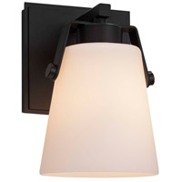 Fusion LED 5 inch Matte Black Wall Sconce Wall Light