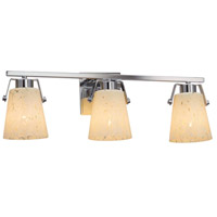 Justice Design FSN-8483-DROP-CROM Fusion 3 Light 24 inch Polished Chrome Bath Bar Wall Light in Droplet Incandescent