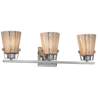Justice Design FSN-8483-MROR-CROM Fusion 3 Light 24 inch Polished Chrome Bath Bar Wall Light in Mercury Glass Incandescent