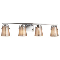 Justice Design FSN-8484-WEVE-CROM Fusion 4 Light 34 inch Polished Chrome Bath Bar Wall Light in Weave, Incandescent
