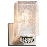 Justice Design FSN-8491-15-SEED-NCKL Fusion Malleo 1 Light 6 inch Brushed Nickel Wall Sconce Wall Light