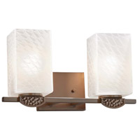 Justice Design FSN-8492-15-WEVE-DBRZ-LED2-1400 Fusion Malleo LED 15 inch Dark Bronze Bath Bar Wall Light
