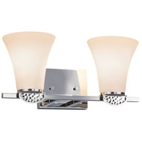 Justice Design FSN-8492-20-OPAL-CROM-LED2-1400 Fusion Malleo LED 15 inch Polished Chrome Bath Bar Wall Light