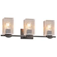 Justice Design FSN-8493-55-WEVE-MBLK-LED3-2100 Fusion Malleo LED 24 inch Matte Black Bath Bar Wall Light