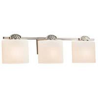 Fusion Malleo 3 Light 25 inch Brushed Nickel Bath Bar Wall Light