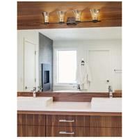 Justice Design FSN-8494-20-RBON-MBLK Fusion Malleo 4 Light 33 inch Matte Black Bath Bar Wall Light