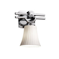 Justice Design Fusion Argyle 1-Light Wall Sconce in Polished Chrome FSN-8501-20-RBON-CROM