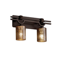 Justice Design Fusion Argyle 2-Light Bath Bar in Dark Bronze FSN-8502-10-MROR-DBRZ