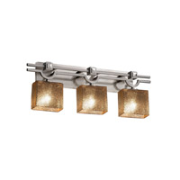 Fusion LED 29 inch Brushed Nickel Vanity Light Wall Light in Rectangle, Mercury Glass, 2100 Lm 3 Light LED