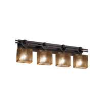 Fusion LED 39 inch Dark Bronze Vanity Light Wall Light in Rectangle, Mercury Glass, 2800 Lm 4 Light LED