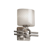 Argyle 1 Light 9 inch Brushed Nickel ADA Wall Sconce Wall Light in Oval, Weave, Fluorescent