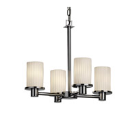 Justice Design Fusion Rondo 4-Light Chandelier in Polished Chrome FSN-8510-10-RBON-CROM