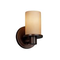 Justice Design Rondo 1 Light Wall Sconce in Dark Bronze FSN-8511-10-ALMD-DBRZ