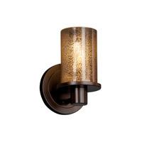 Justice Design Fusion Rondo 1-Light Wall Sconce in Dark Bronze FSN-8511-10-MROR-DBRZ