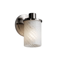 Justice Design Fusion Rondo 1-Light Wall Sconce in Brushed Nickel FSN-8511-10-WEVE-NCKL