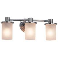 Justice Design FSN-8513-10-DROP-NCKL-LED3-2100 Fusion LED 20 inch Brushed Nickel Bath Bar Wall Light in 2100 Lm LED, Droplet