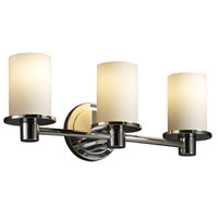 Justice Design Fusion Rondo 3-Light Bath Bar in Polished Chrome FSN-8513-10-OPAL-CROM