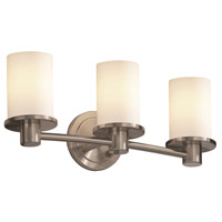 Fusion 3 Light 20 inch Brushed Nickel Bath Bar Wall Light in Opal