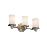 Justice Design Fusion Rondo 3-Light Bath Bar in Brushed Nickel FSN-8513-10-RBON-NCKL photo thumbnail