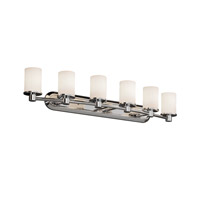 Fusion 6 Light 44 inch Polished Chrome Bath Bar Wall Light in Opal