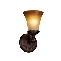 Justice Design Tradition 1 Light Wall Sconce in Dark Bronze FSN-8521-20-CRML-DBRZ