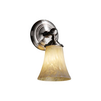 Justice Design Fusion Tradition 1-Light Wall Sconce in Brushed Nickel FSN-8521-20-DROP-NCKL
