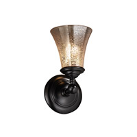 Justice Design Fusion Tradition 1-Light Wall Sconce in Matte Black FSN-8521-20-MROR-MBLK