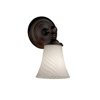 Justice Design Fusion Tradition 1-Light Wall Sconce in Dark Bronze FSN-8521-20-WEVE-DBRZ