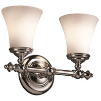 Justice Design Fusion Tradition 2-Light Bath Bar in Polished Chrome FSN-8522-20-OPAL-CROM