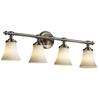 Justice Design Fusion Tradition 4-Light Bath Bar in Brushed Nickel FSN-8524-20-OPAL-NCKL