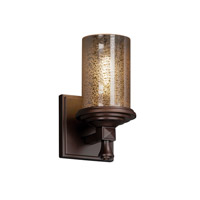 Justice Design Fusion Deco 1-Light Wall Sconce in Dark Bronze FSN-8531-10-MROR-DBRZ