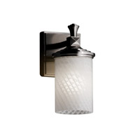 Justice Design Fusion Deco 1-Light Wall Sconce in Brushed Nickel FSN-8531-10-WEVE-NCKL