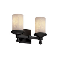 Justice Design Fusion Deco 2-Light Bath Bar in Matte Black FSN-8532-10-DROP-MBLK