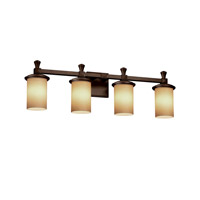 Deco 4 Light 29 inch Dark Bronze Vanity Light Wall Light in Almond, Incandescent