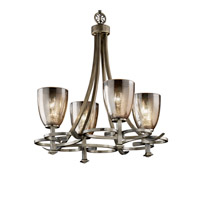 Justice Design Fusion Arcadia 4-Uplight Chandelier in Antique Brass FSN-8560-18-MROR-ABRS