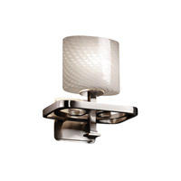 Justice Design Fusion Arcadia 1-Light Wall Sconce in Brushed Nickel FSN-8561-30-WEVE-NCKL