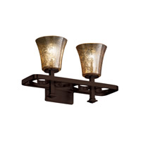 Justice Design Fusion Arcadia 2-Light Bath Bar in Dark Bronze FSN-8562-20-MROR-DBRZ