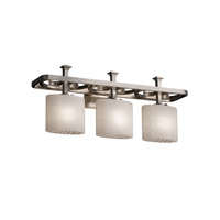 Justice Design Fusion Arcadia 3-Light Bath Bar in Brushed Nickel FSN-8563-30-WEVE-NCKL