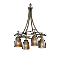 Justice Design Fusion Arcadia 4-Downlight Chandelier in Antique Brass FSN-8565-18-MROR-ABRS