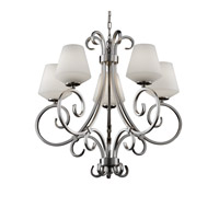 Justice Design Fusion Victoria 5-Uplight Chandelier in Brushed Nickel FSN-8570-22-OPAL-NCKL