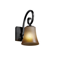 Justice Design Victoria 1 Light Wall Sconce in Matte Black FSN-8571-20-CRML-MBLK