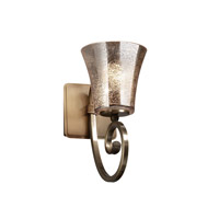 Justice Design Fusion Victoria 1-Light Wall Sconce in Antique Brass FSN-8571-20-MROR-ABRS