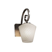 Justice Design Fusion Victoria 1-Light Wall Sconce in Brushed Nickel FSN-8571-22-WEVE-NCKL