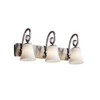 Justice Design Fusion Victoria 3-Light Bath Bar in Brushed Nickel FSN-8573-20-OPAL-NCKL