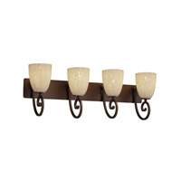 Justice Design Fusion Victoria 4-Light Bath Bar in Dark Bronze FSN-8574-18-DROP-DBRZ
