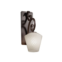 Fusion 1 Light 7 inch Dark Bronze Wall Sconce Wall Light in Fluorescent, Weave, Inverted Cone