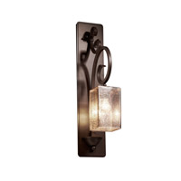 Justice Design FSN-8579-15-MROR-DBRZ Fusion 1 Light 5 inch Dark Bronze Wall Sconce Wall Light in Fluorescent, Mercury Glass, Square with Flat Rim