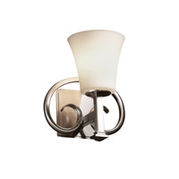 Justice Design Fusion Heritage 1-Light Wall Sconce in Brushed Nickel FSN-8581-20-OPAL-NCKL