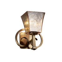 Justice Design Fusion Heritage 1-Light Wall Sconce in Antique Brass FSN-8581-40-MROR-ABRS photo thumbnail