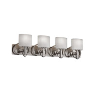 Justice Design Fusion Heritage 4-Light Bath Bar in Brushed Nickel FSN-8584-30-WEVE-NCKL
